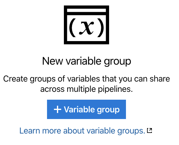 Build and Sign - Creating a Variable Group
